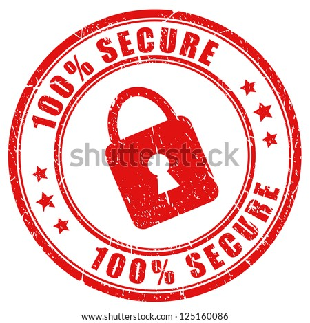 Vector secure stamp - stock vector