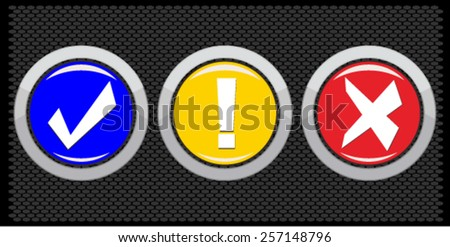 Vector security buttons set - stock vector