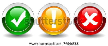 Vector security buttons set