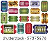 vector set: admit one tickets, vector illustration - stock vector