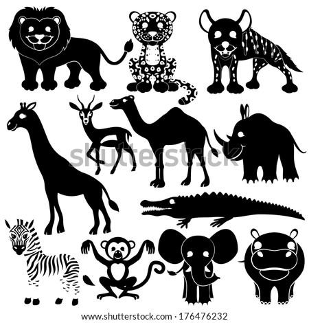 Vector set. Animal signs. - stock vector