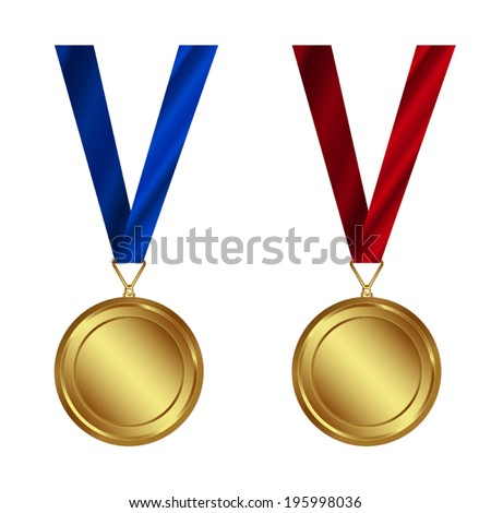 VECTOR SET: Award Medals Set. Easy to edit - stock vector