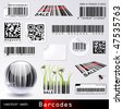 vector set: barcodes - stock photo