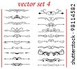 vector set 4: calligraphic design elements and page decoration - lots elements to embellish your layout - stock vector