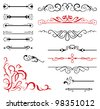 vector set: calligraphic design elements and page decoration - lots elements to embellish your layout - stock