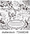 vector set: calligraphic design elements and page decoration - lots of useful elements to embellish your layout - stock photo