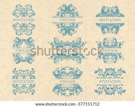 vector set calligraphic design elements and page decoration  lots of useful elements to embellish your layout - stock vector
