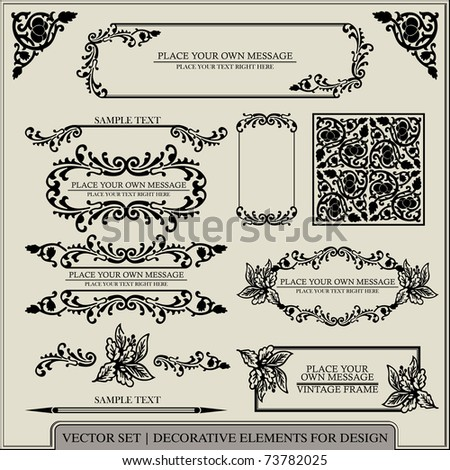 vector set: calligraphic design elements and page decoration - lots of useful shapes to embellish your layout - stock vector
