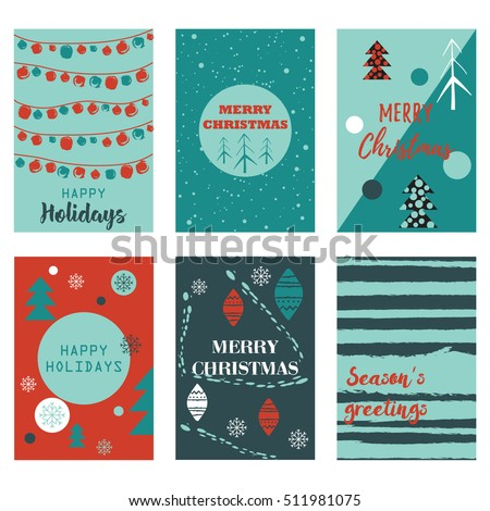 Vector set cards christmas sale backgrounds stock vector hd royalty vector set cards with christmas sale backgrounds modern templates for poster card invitation stopboris Images