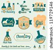 Vector Set: Chemistry Class Labels and Icons - stock vector