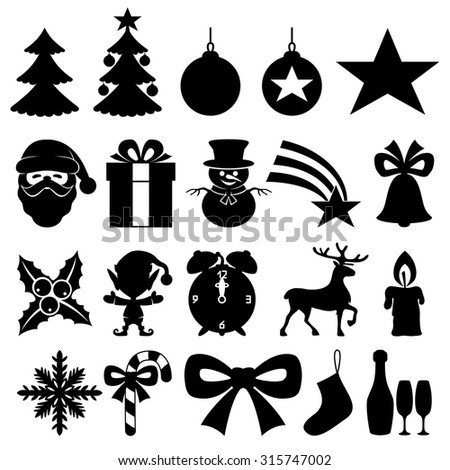 Vector set. Christmas icons.