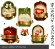 vector set: christmas labels - stock vector