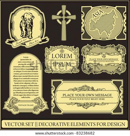 Vector set - Decorative elements for design - stock vector