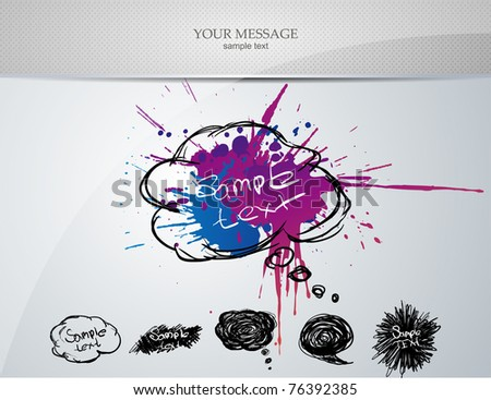 vector set: design elements and page decoration - lots of useful elements to embellish your layout - stock vector
