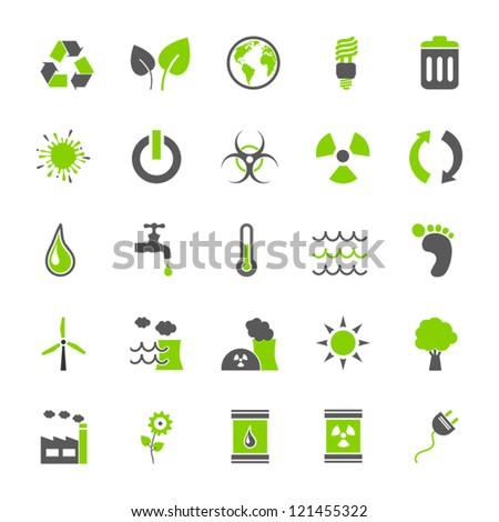 Vector Set: Eco Icons - stock vector
