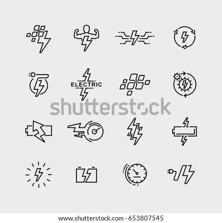 Vector Set Energy Symbols Logo Design Stock Vector Royalty Free