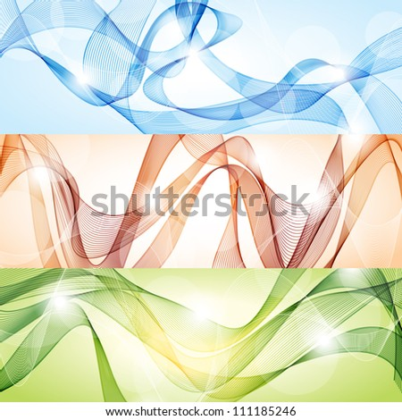 Vector set of abstract banners - stock vector