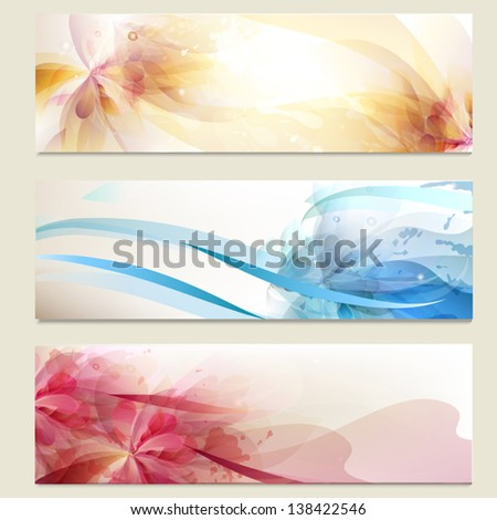 Vector set of abstract blue  backgrounds for design - stock vector
