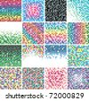 vector set of abstract colorful tile backgrounds - stock photo