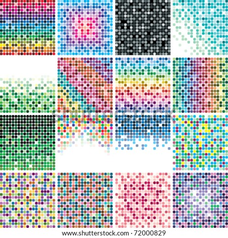 vector set of abstract colorful tile backgrounds - stock vector