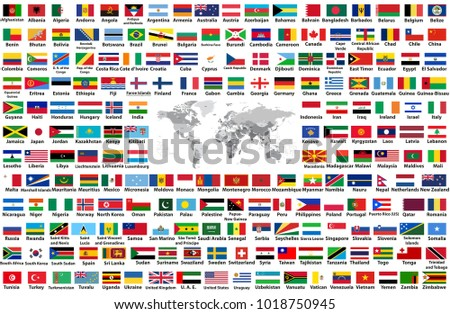 Vector set all world flags arranged stock vector 2018 1018750945 vector set of all world flags arranged in alphabetical order isolated on white background world gumiabroncs Choice Image