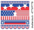 Vector set of american banners - stock vector