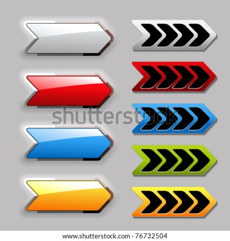 Vector set of arrow buttons