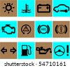 vector set of auto icons - stock vector