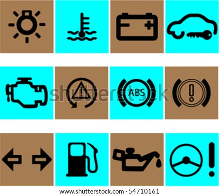 vector set of auto icons