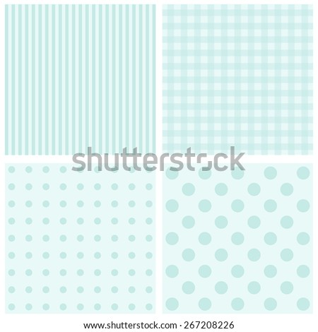 Vector set of 4  background patterns pastel tones. - stock vector