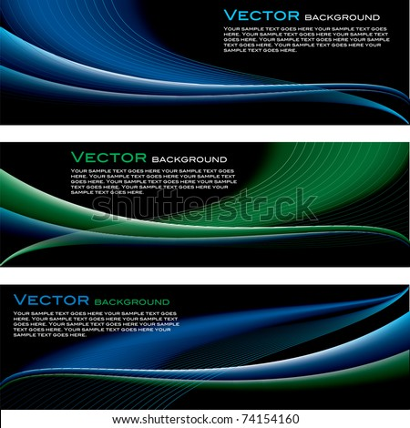 Vector Set of Backgrounds. Abstract Illustration. Waves. Eps10. - stock vector