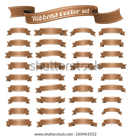 Vector set of banners ribbons - stock vector