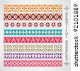 vector set of beautiful and colorful borders - stock vector