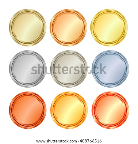 Bronze Silver Gold Platinum Icons Stock Images, Royalty-Free ...