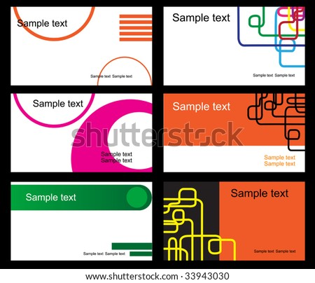 Vector. Set of business cards - stock vector