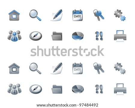 Vector set of business icons for your website - stock vector