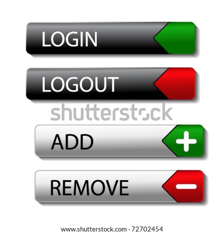 Vector set of buttons