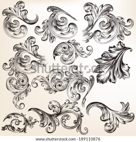 victorian scroll victorian stock images royalty free images vectors shutterstock. Black Bedroom Furniture Sets. Home Design Ideas