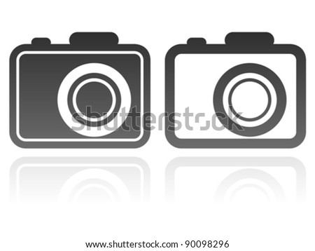 vector set of camera icons - stock vector