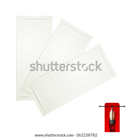 Vector set of chocolate bar wrapper food pack