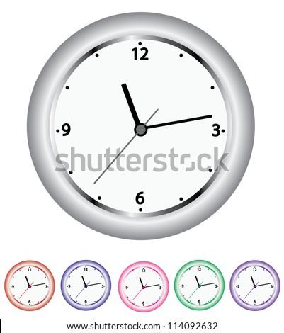 vector set of clocks - stock vector
