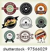 Vector set of  coffee labels and badges - stock vector
