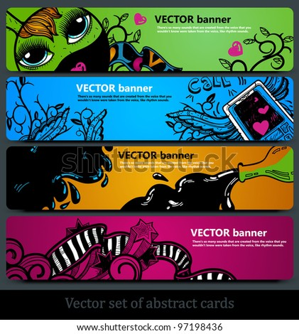 vector set of colored abstract banners
