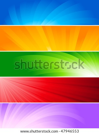 Vector set of colorful banners; clip-art