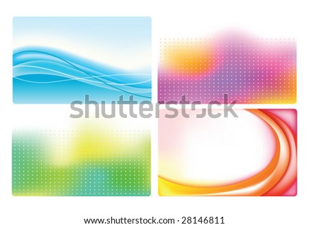 vector Set of colorful business cards.To see similar, please VISIT MY GALLERY.
