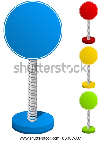 Vector - Set of Colorful Text Box on Metal Spring - stock vector