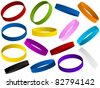 Vector - Set of colorful wristband - stock photo