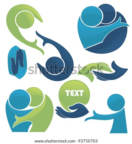 vector set of conversation, love and communication - stock vector