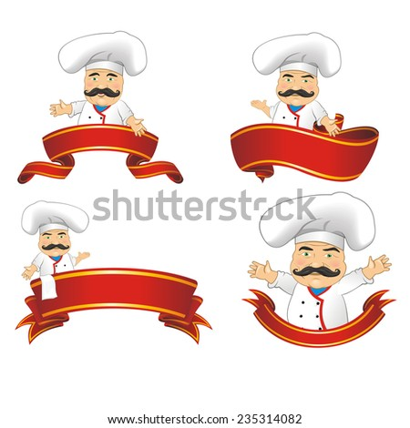 vector set of cooks - stock vector