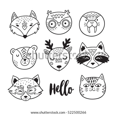 Woodland on baby deer clip art